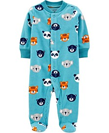 Baby Boy  Animals Snap-Up Fleece Sleep & Play