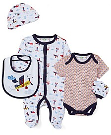 Baby Boys 5 Piece Sleeper Layette Set