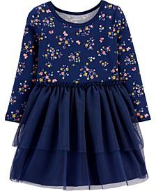 Toddler Girls Tutu Jersey Dress