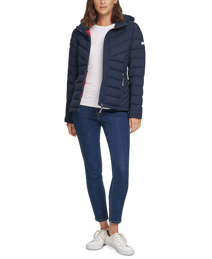 Tommy Hilfiger - Hooded Packable Puffer Coat