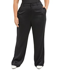 Plus Size Satin Pants, Created for Macy's