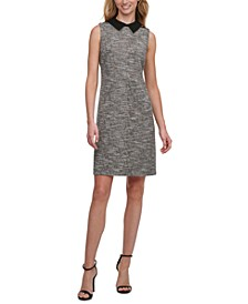 Collared Tweed A-Line Dress