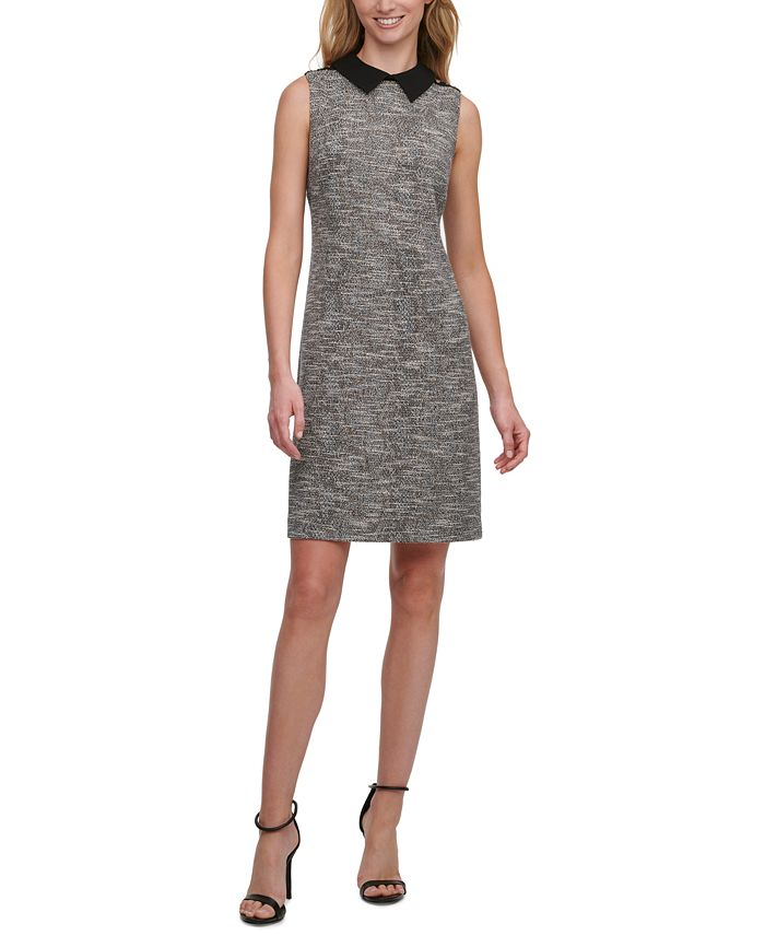 Tommy Hilfiger - Collared Tweed A-Line Dress
