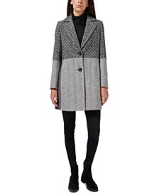 Two-Tone Single-Breasted Walker Coat