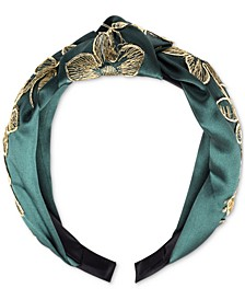 INC Embroidered Flower Knotted Headband, Created for Macy's