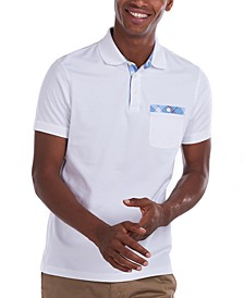 Men's Tartan Pocket Cotton Polo