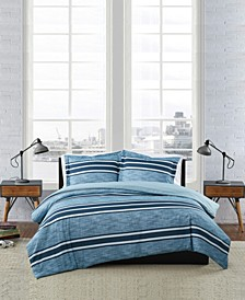 Mitchell Stripe 3 Piece Duvet Cover Set, Full/Queen