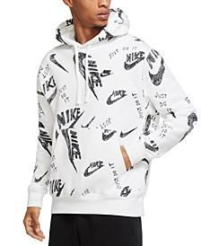 Men's Sportswear Club Fleece Logo-Print Hoodie