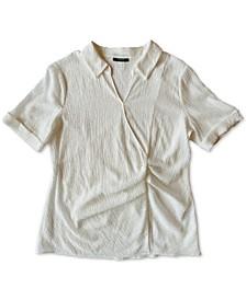 Pleated-Waist Top, Created for Macy's