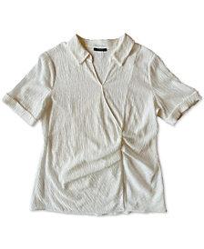 Alfani Pleated-Waist Top, Created for Macy's