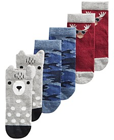 Baby Boys 3-Pack Animal Socks, Created for Macy's