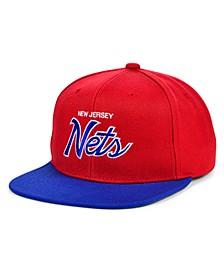 New Jersey Nets HWC Heritage Script Snapback Cap