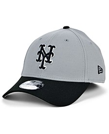 New York Mets Team Classic Gray Black White 39THIRTY Cap