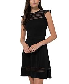 Mesh-Inset Dress