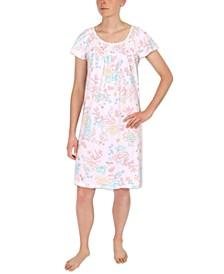 Floral-Print Sleepshirt Nightgown
