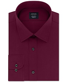 Men's Classic/Regular-Fit Non-Iron Performance Stretch Solid Dress Shirt