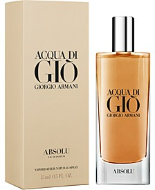 Receive a Complimentary deluxe mini with any large or jumbo spray purchase from the Giorgio Armani Acqua di Gio fragrance collection