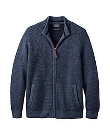 Mens Full Zip Shetland Sweater