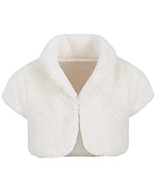 Baby Girls Faux-Fur Shrug, Created for Macy's