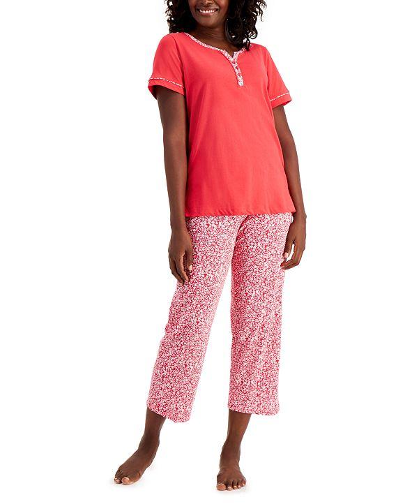 Charter Club Women's Cotton Capri Pajama Set, Created for Macy's