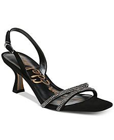 Ronan Kitten-Heel Evening Sandals