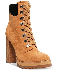 Train High-Heeled Lug Sole Booties