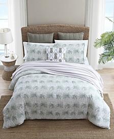 Distressed Palm King Comforter Set