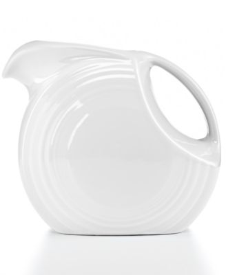 White 67.75-oz. Large Disk Pitcher