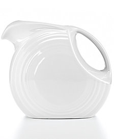 Fiesta White 67.75-oz. Large Disk Pitcher