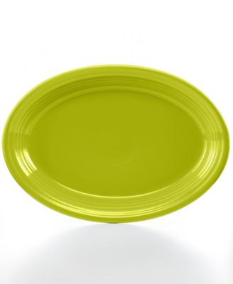 "Lemongrass 13"" Oval Platter"