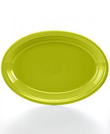 """Fiesta Lemongrass 13"""" Oval Platter"""