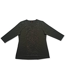 Embroidered Keyhole Top, Created for Macy's