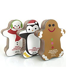 Cookie Tins- Gingerbread Man, Penguin, Snowman, Set of 3