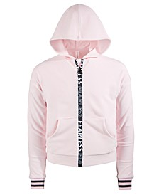Big Girls Velour Zip Hoodie, Created for Macy's