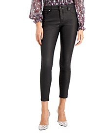 INC Petite Coated Skinny Ankle Jeans, Created for Macy's