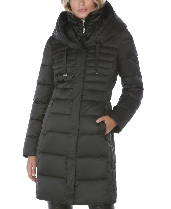Tahari - Hooded Puffer Coat