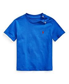 Baby Boy Cotton Jersey Crewneck T-Shirt