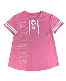 Big Girls Lace-Up T-Shirt, Created for Macy's