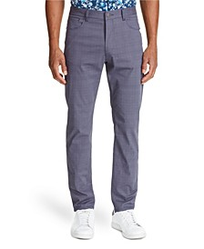 Tallia Men's Slim-Fit Grey Check Pants and a Free Face Mask With Purchase