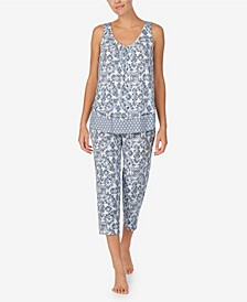 Women's Cropped Pajama Set