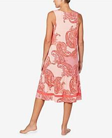 Women's Sleeveless Midi Gown with Soft Bra