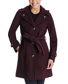 Single-Breasted Belted Hooded Walker Coat