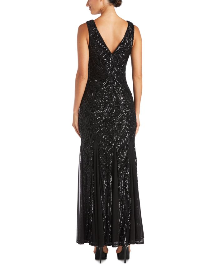 Nightway Petite Allover-Sequin Gown & Reviews - Dresses - Petites - Macy's