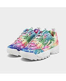Big Girls Disruptor 2 Tie-Dye Casual Sneakers from Finish Line