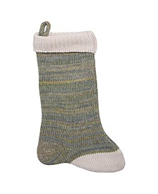 Cotton Knit Stocking with Cuff