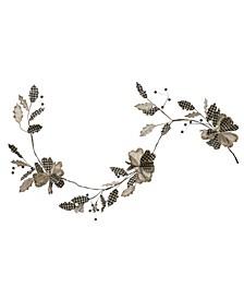 """72"""" Gingham Velvet Fabric Garland with Leaves Flower"""