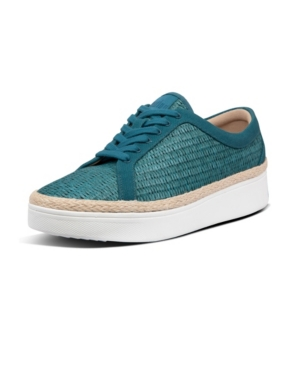 Fitflop FITFLOP WOMEN'S RALLY BASKET-WEAVE RAFFIA SNEAKERS WOMEN'S SHOES