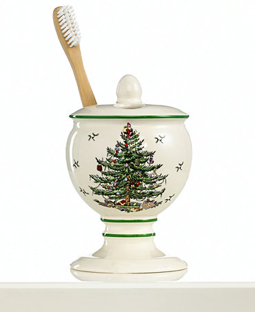 Spode Bath Accessories Christmas Tree Toothbrush Holder