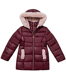 Big Girls Stadium Length Puffer Jacket
