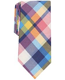 Men's Oman Slim Plaid Tie, Created for Macy's